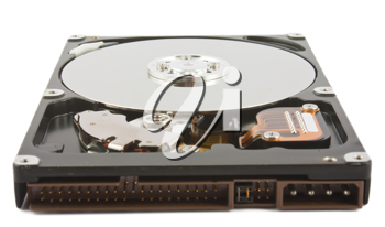 Royalty Free Photo of an Open Hard Disc Drive