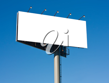 Royalty Free Photo of a Blank Billboard Sign