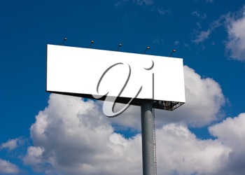 Royalty Free Photo of a Blank Billboard