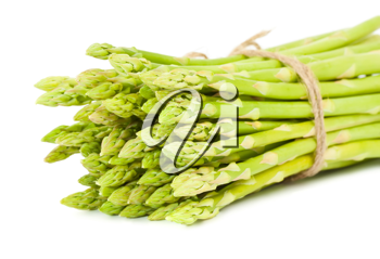 Royalty Free Photo of a Bunch of Fresh Asparagus