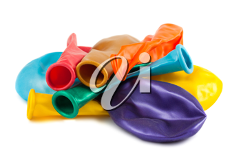 Royalty Free Photo of a Collection of Empty Balloons