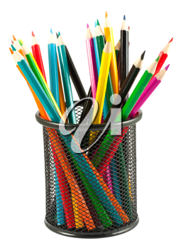 Royalty Free Photo of a Bunch of Colored Pencils