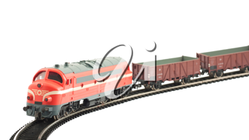 Royalty Free Photo of a Miniature Model of a Locomotive