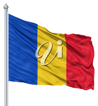 Royalty Free Clipart Image of the Flag of Romania