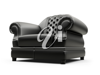 Royalty Free Clipart Image of a Leather Armchair