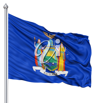 Royalty Free Clipart Image of the Flag of Michigan