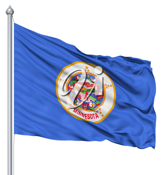 Royalty Free Clipart Image of the Flag of Minnesota