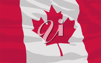 Royalty Free Clipart Image of the Canadian Flag