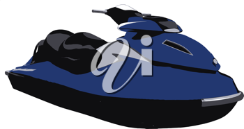 Royalty Free Clipart Image of a Jetski