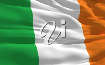 Royalty Free Clipart Image of the Flag of Ireland