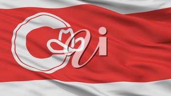 Calgary City Flag, Country Canada, Alberta Province, Closeup View, 3D Rendering