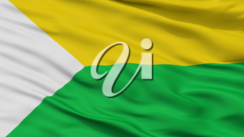 Chaguani City Flag, Country Colombia, Cundinamarca Department, Closeup View, 3D Rendering