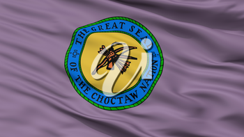 Choctaw Indian Flag, Closeup View, 3D Rendering