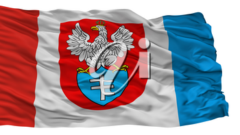 Legionowo City Flag, Country Poland, Isolated On White Background, 3D Rendering