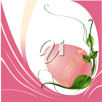 Royalty Free Clipart Image of a Floral Easter Background
