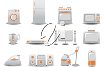 Royalty Free Clipart Image of Household Appliances