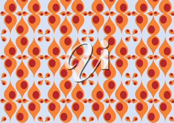 Royalty Free Clipart Image of a Retro Patterned Background