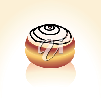 Royalty Free Clipart Image of a Donut