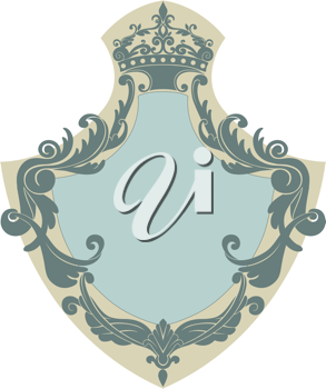 Royalty Free Clipart Image of a Heraldic Shield