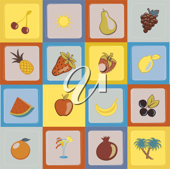 Royalty Free Clipart Image of a Fruit Backgorund