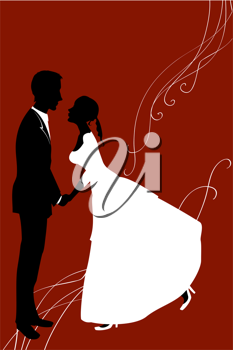 Royalty Free Clipart Image of a Wedding Invitation