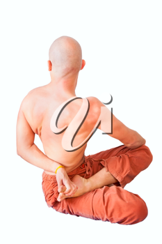 Royalty Free Photo of a Man Doing Yoga