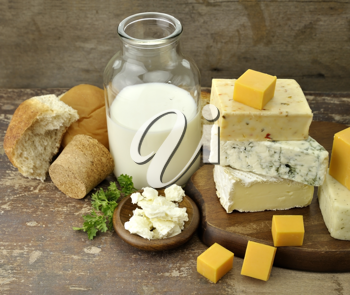 Royalty Free Photo of a Bunch of Dairy Products