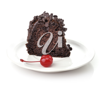 Royalty Free Photo of a Slice of Chocolate Cake