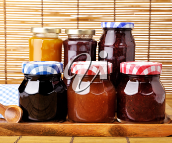 Royalty Free Photo of an Assortment of Homemade Jam