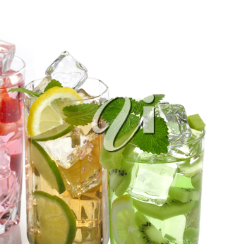 Assortment Of Fruit Cold Drinks