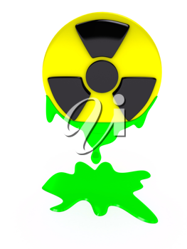 Royalty Free Clipart Image of a Radiation Sign