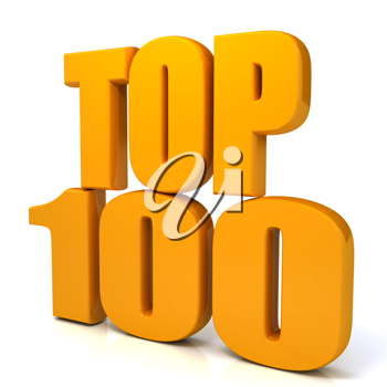 Royalty Free Clipart Image of the Words Top 100