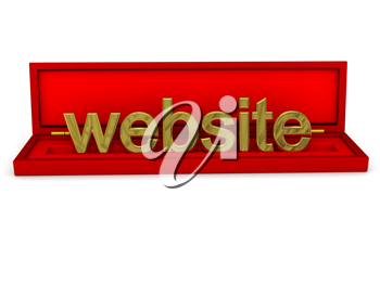 Royalty Free Clipart Image of the Word Website in a Box