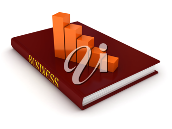 Royalty Free Clipart Image of a Bar Graph on a Book