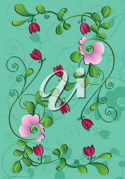 Royalty Free Clipart Image of a Flower Background