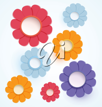 Royalty Free Clipart Image of Paper Flowers
