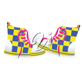 Royalty Free Clipart Image of a Pair of Shoes