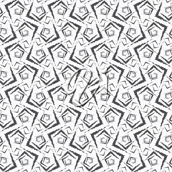 Seamless stylish geometric background. Modern abstract pattern. Flat monochrome design .Repeating ornament small rough shapes.