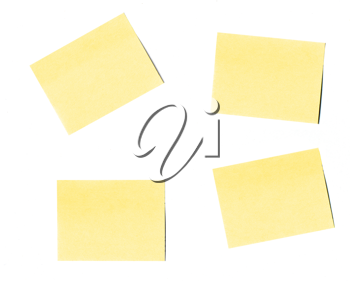 Royalty Free Clipart Image of a Post-it Notes