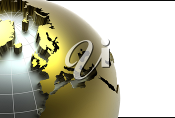 Royalty Free Clipart Image of a The Earth
