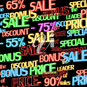 Royalty Free Clipart Image of a Sales Background