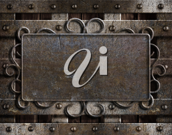 Royalty Free Photo of a Vintage Metal Plate