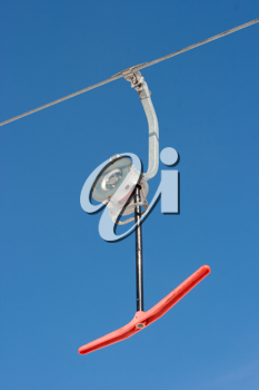 Royalty Free Photo of a Rope Tow Ski Lift