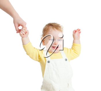Royalty Free Photo of a Baby Taking First Steps