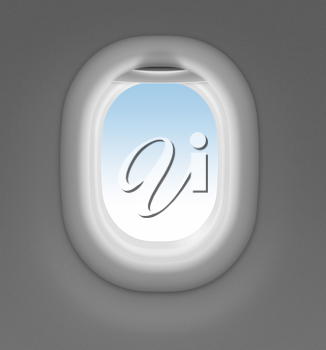 Royalty Free Photo of a Jet Window