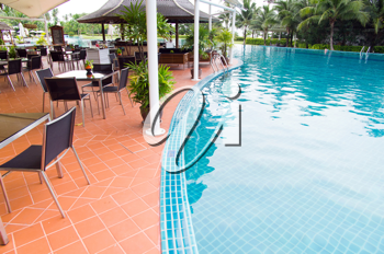 Royalty Free Photo of a Tropical Swimming Pool