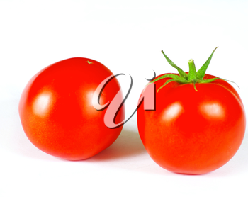 two tomato isolated on a white