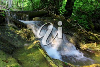 Small waterfall in the deep forest
