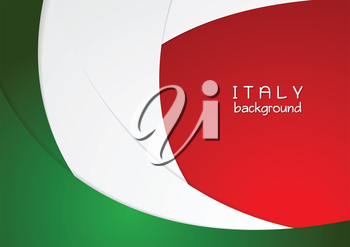 Corporate wavy bright abstract background. Italian colors. Vector graphic design