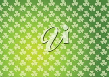 Clovers shamrocks green abstract texture background. St. Patrick Day vector design